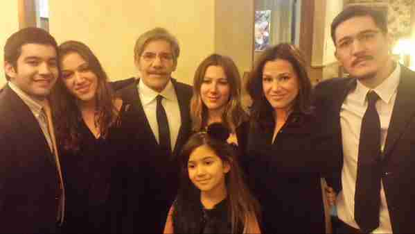 Geraldo with his family at brother Wilfredo's service.  From left; son Cruz, daughter Simone, Geraldo, daughter Isabella, wife Erica, son Gabriel and youngest daughter Sol in front.