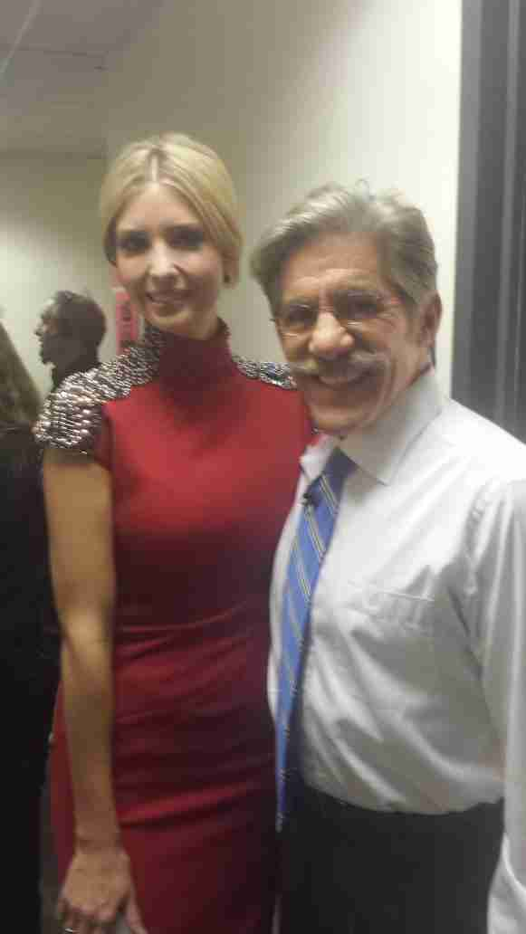Geraldo with Ivanka Trump during shooting of Celebrity Apprentice 2015.