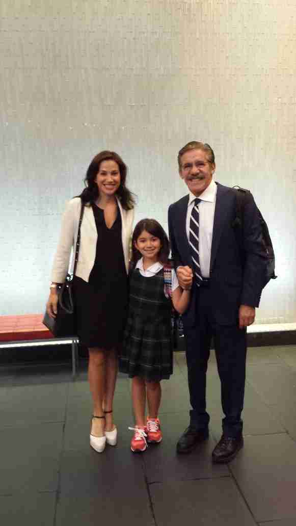 Geraldo and wife Erica get youngest daughter Sol ready for the third grade.