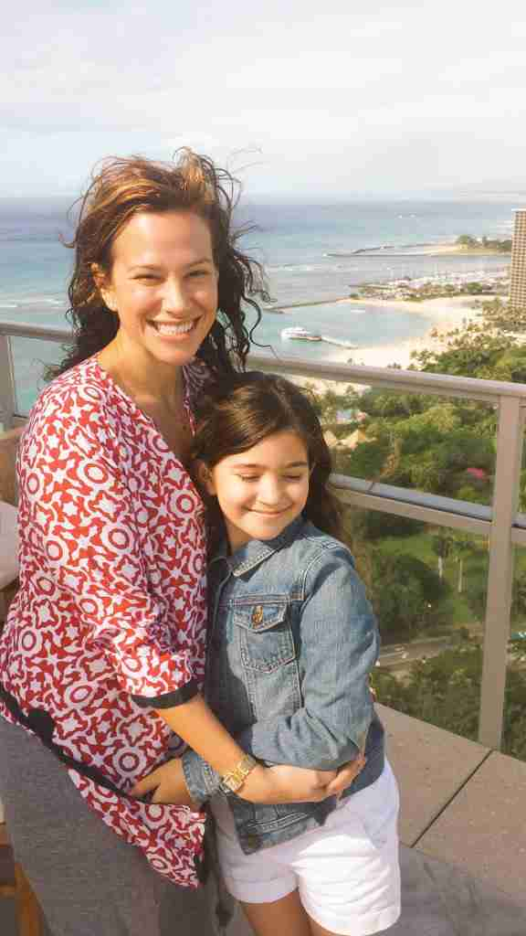 Wife Erica and youngest daughter Sol feeling the breeze during a trip to Hawaii.