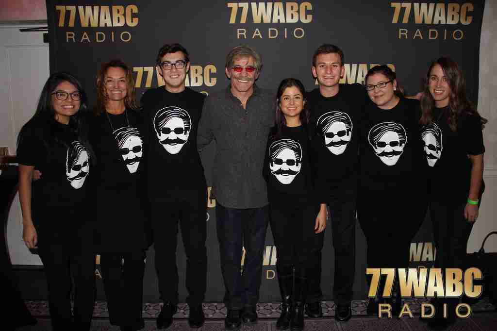 Geraldo with 77 WABC radio staff during an evening of Have A Beer With Geraldo in Manhattan.