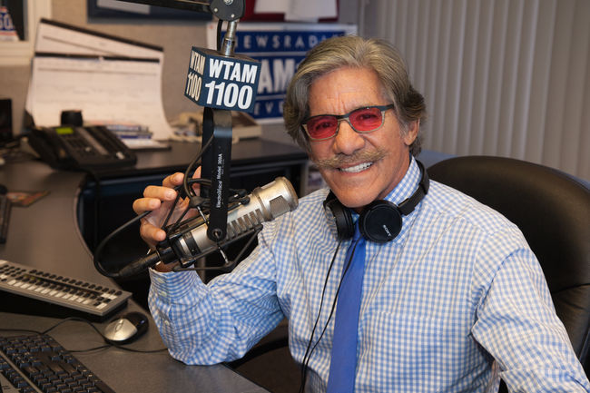Geraldo in Cleveland with microphone