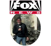 Geraldo reporting for the Fox News Channel from Iraq during American invasion