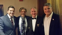 Geraldo celebrates President Donald Trump's inauguration with Fox News colleagues