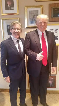 Geraldo stand with President Elect Donald Trump in early January 2017