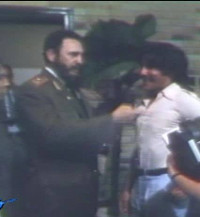 Geraldo meets Fidel Castro in Cuba in the 1970s
