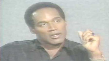 OJ Simpson during his original trial for murder