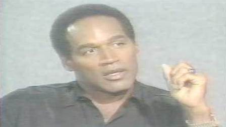 OJ Simpson during his original trial